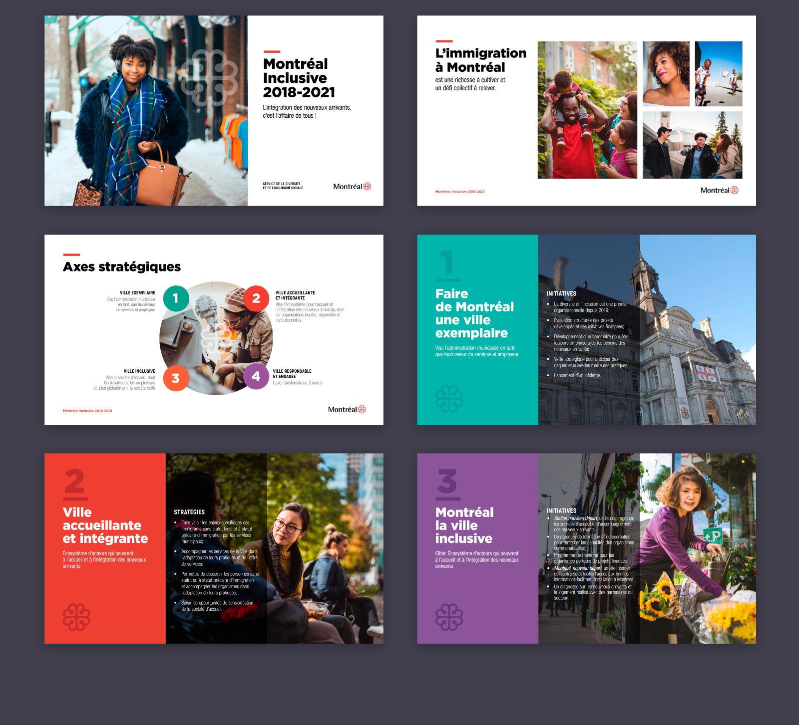 Presentation design: Immigrants Integration Bureau Montreal