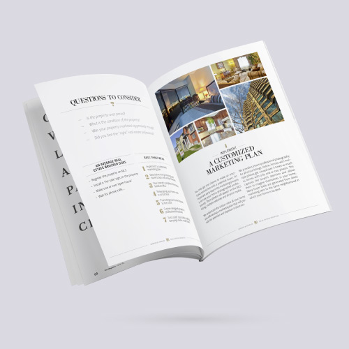 Project preview for real estate promo brochures design