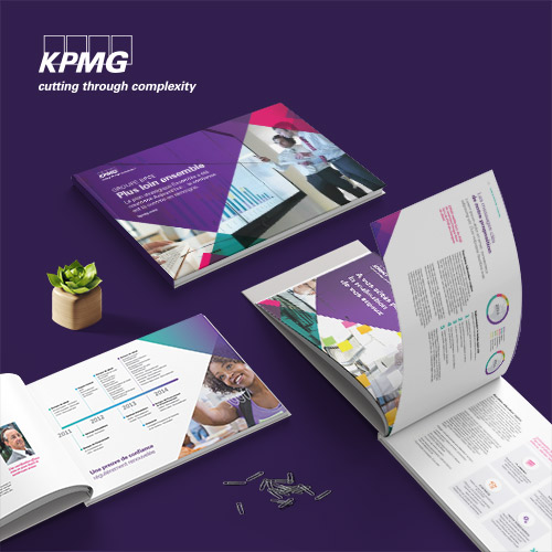 Project preview for financial and annual reports design