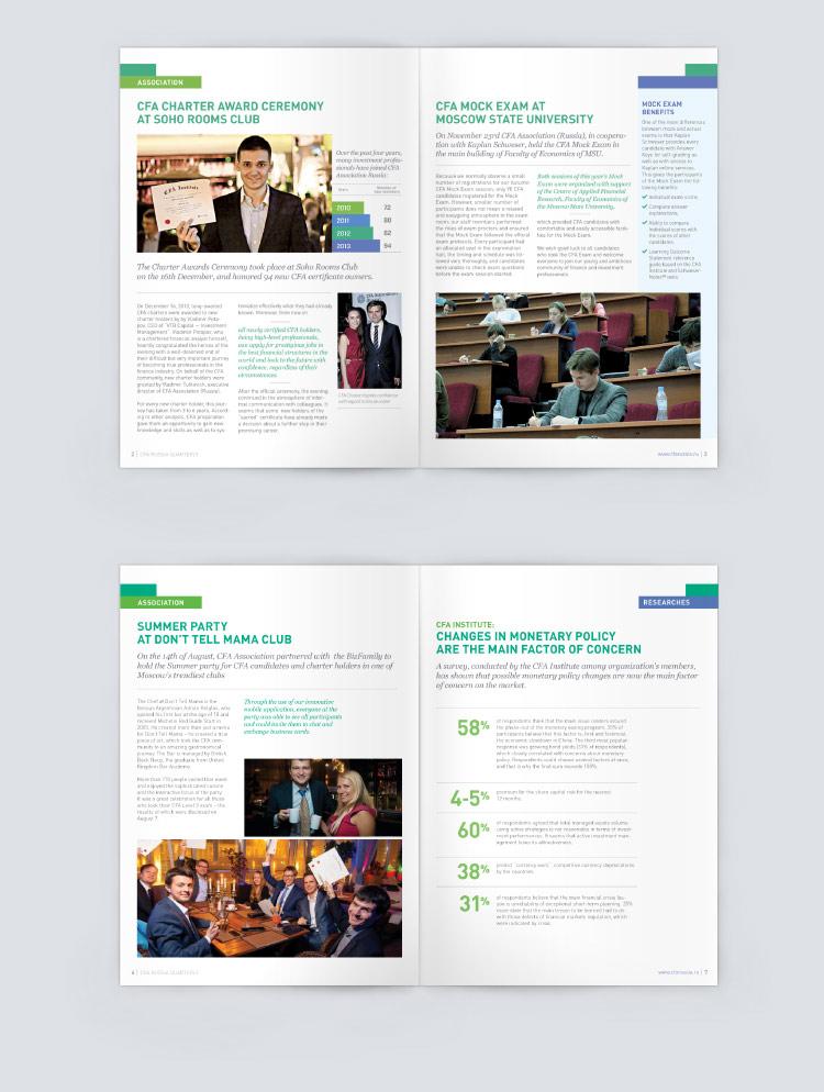 CFA corporate magazine design