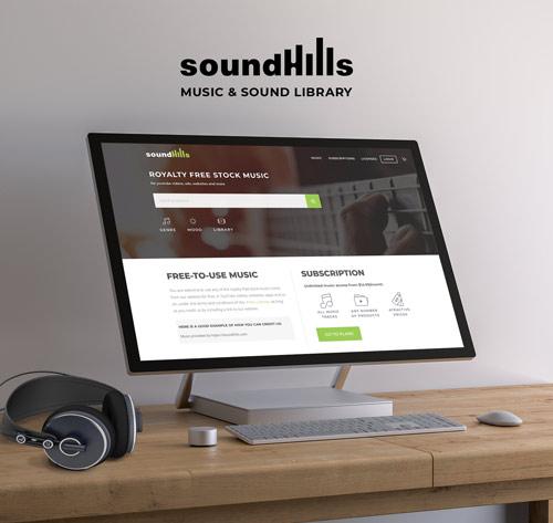 music website design general presentation