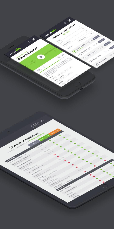 music website mobile version design