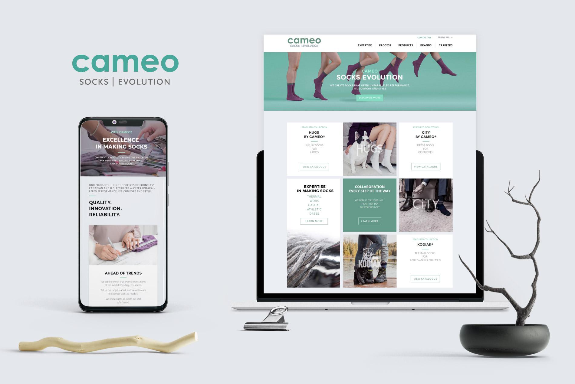socks manufacturer website design