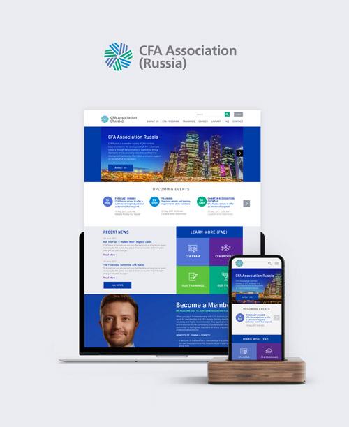 Business association website design CFA frame 1