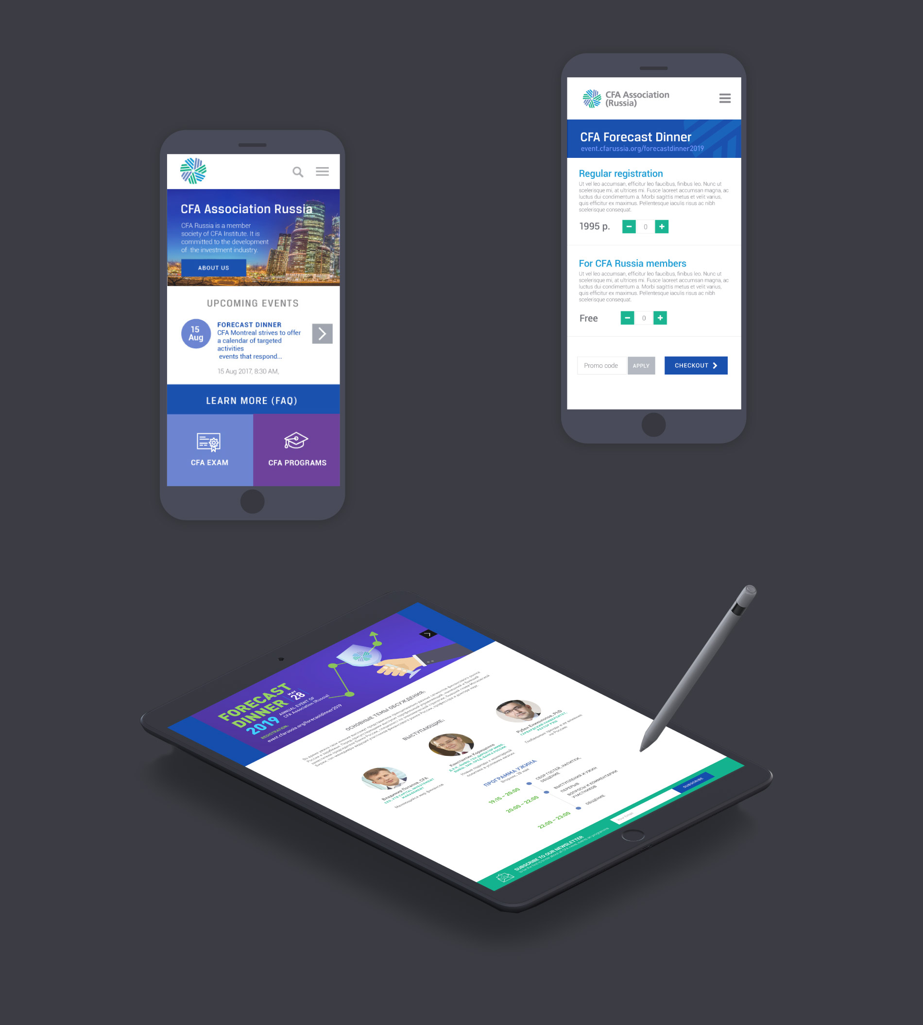 business association website design mobile (CFA)