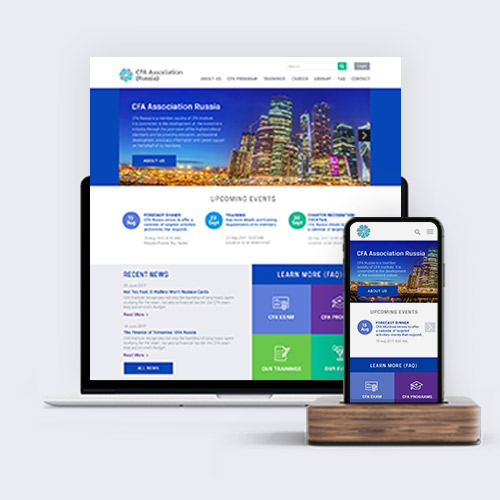 Website redesign for CFA Association, a global associationof investment professionals.