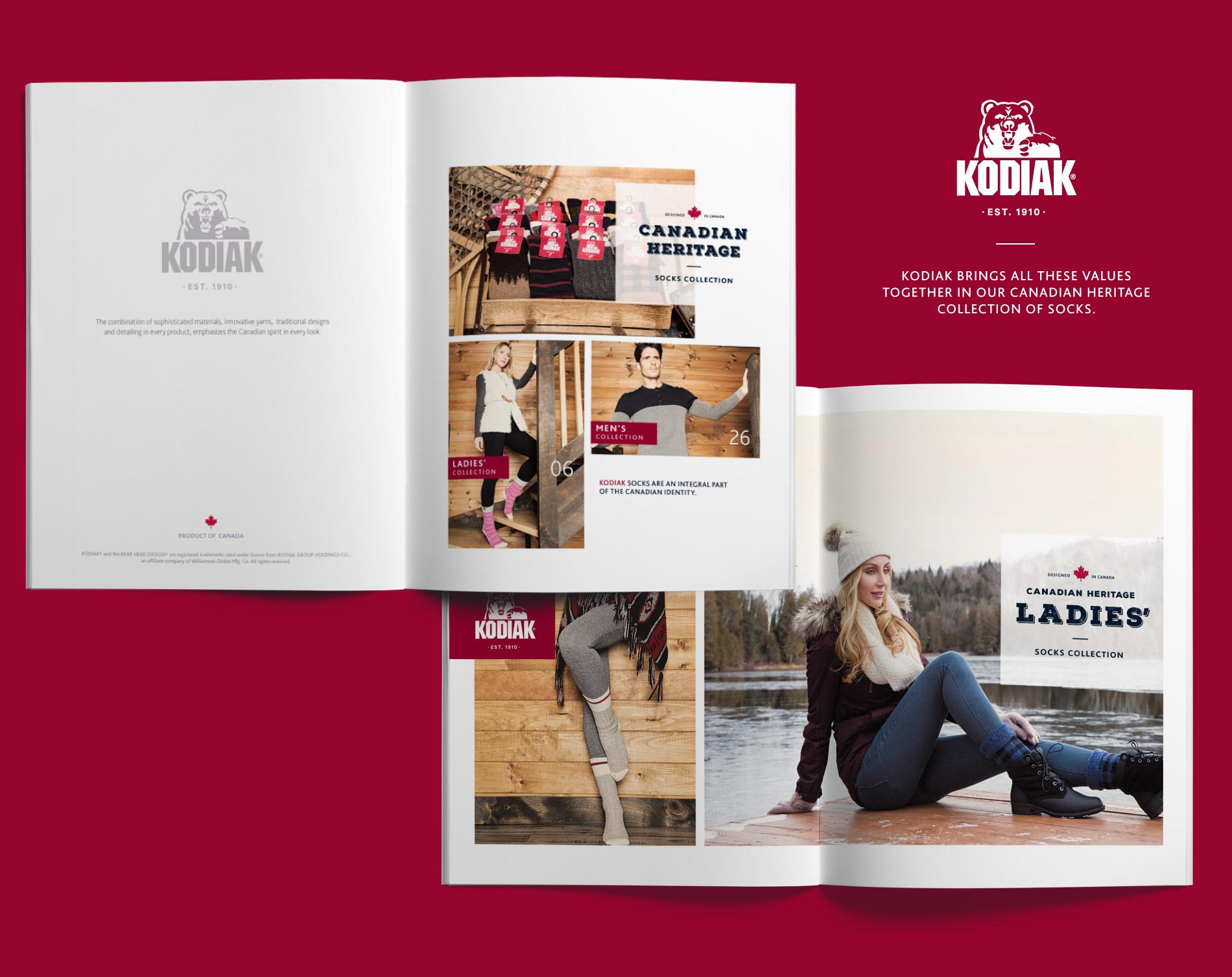 Canadian Heritage Socks catalog design