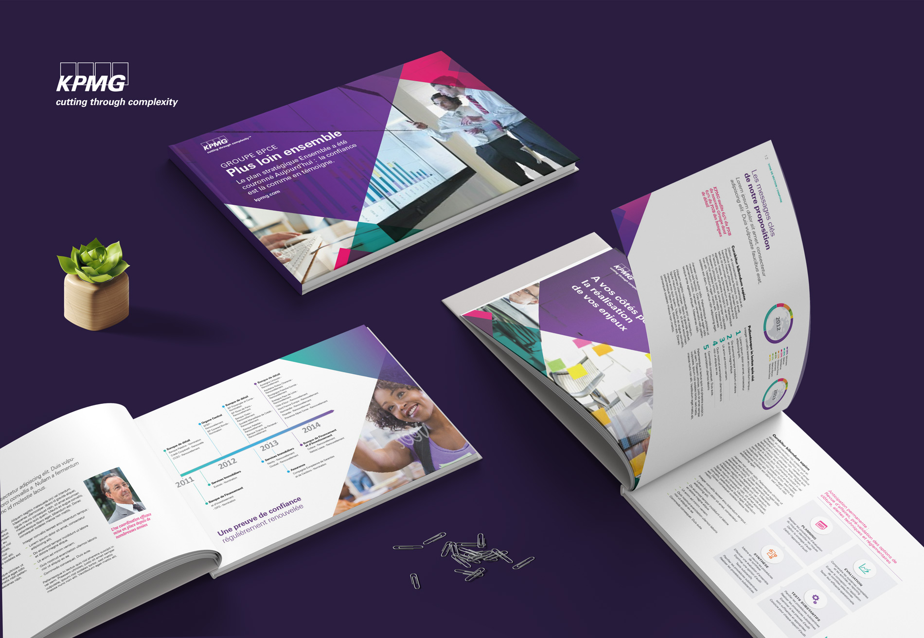 KPMG business proposal brochure design