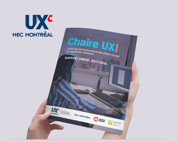 Annual report design (cover): UX Chair (HEC Montreal)