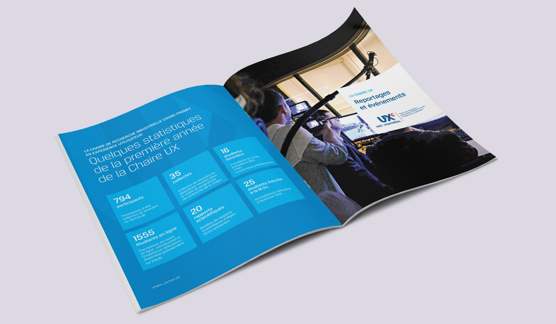 Annual report design: UX Chair (HEC Montreal)