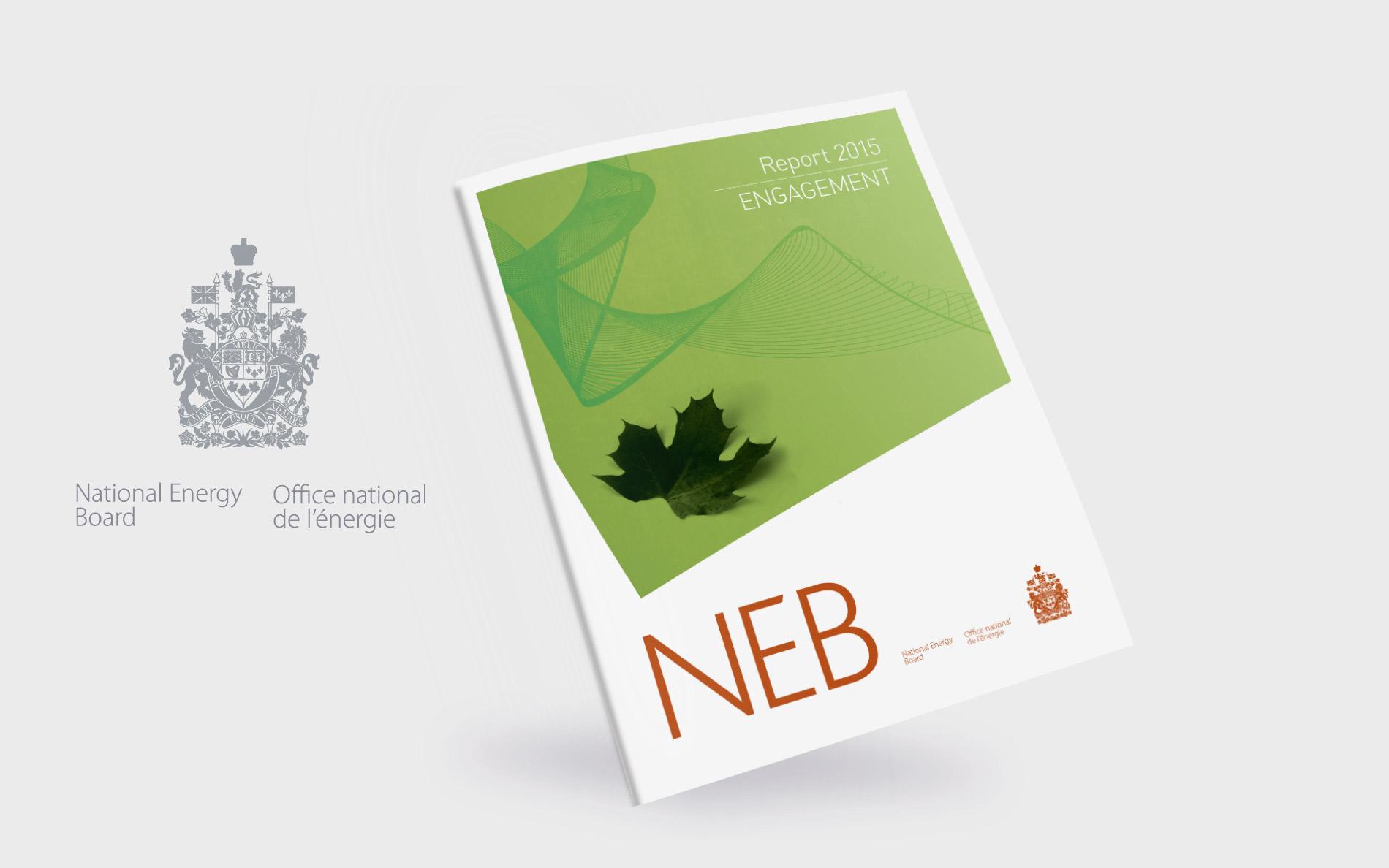 NEB annual report design: cover