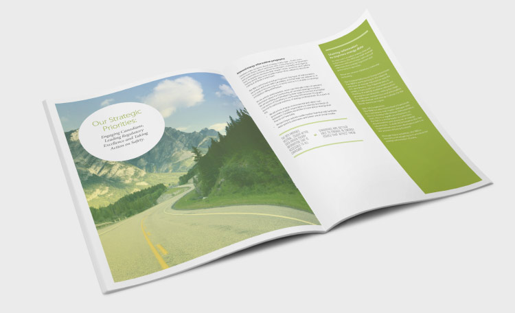 NEB annual report design: section pages