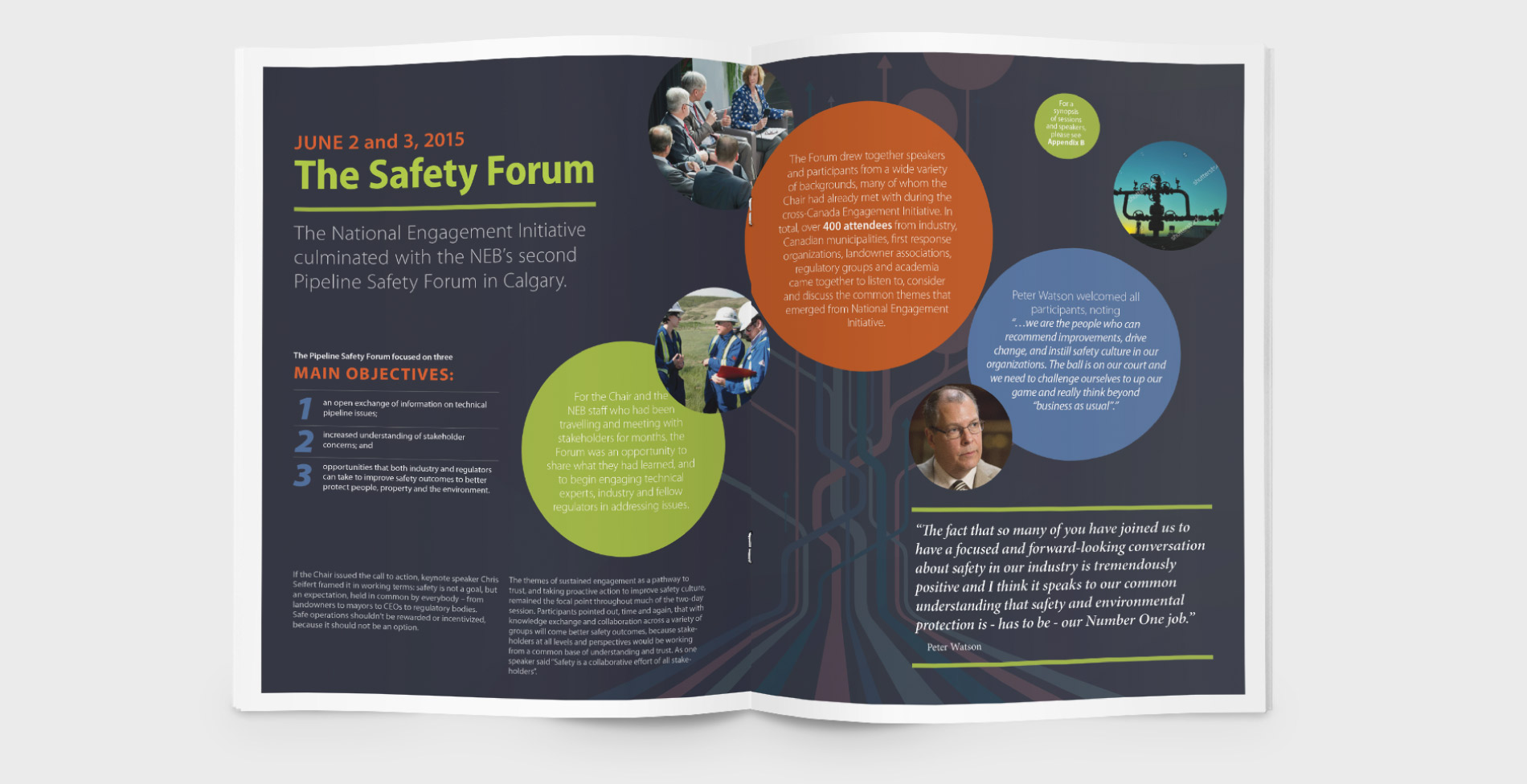 NEB annual report design: infographics