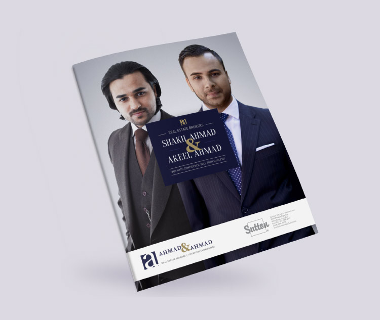 Real estate broker brochure: cover