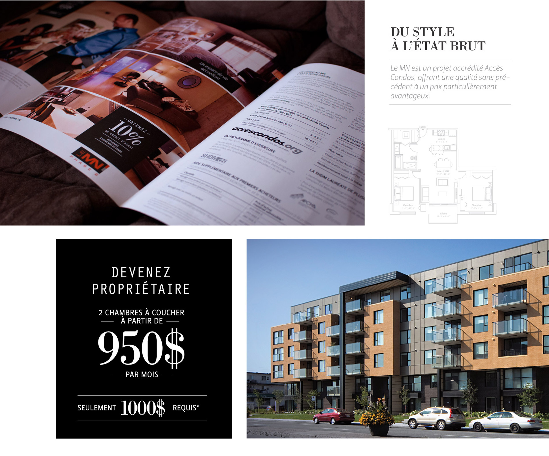 Residential project leaflet (Montreal)