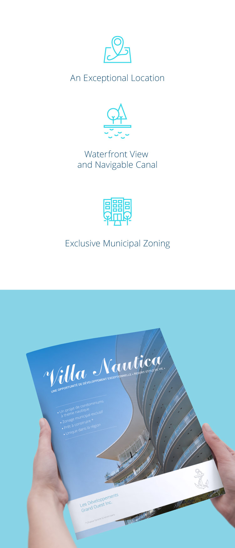 VN: luxury property brochure and icons design
