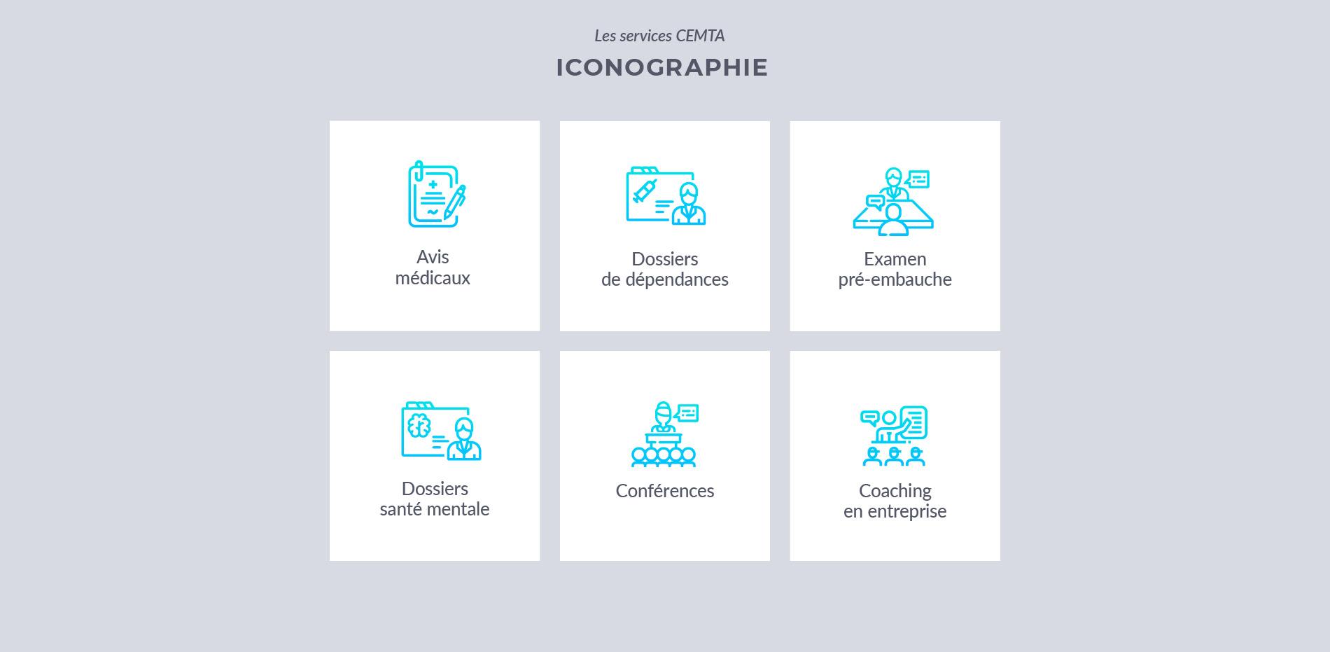 medical website design - icons