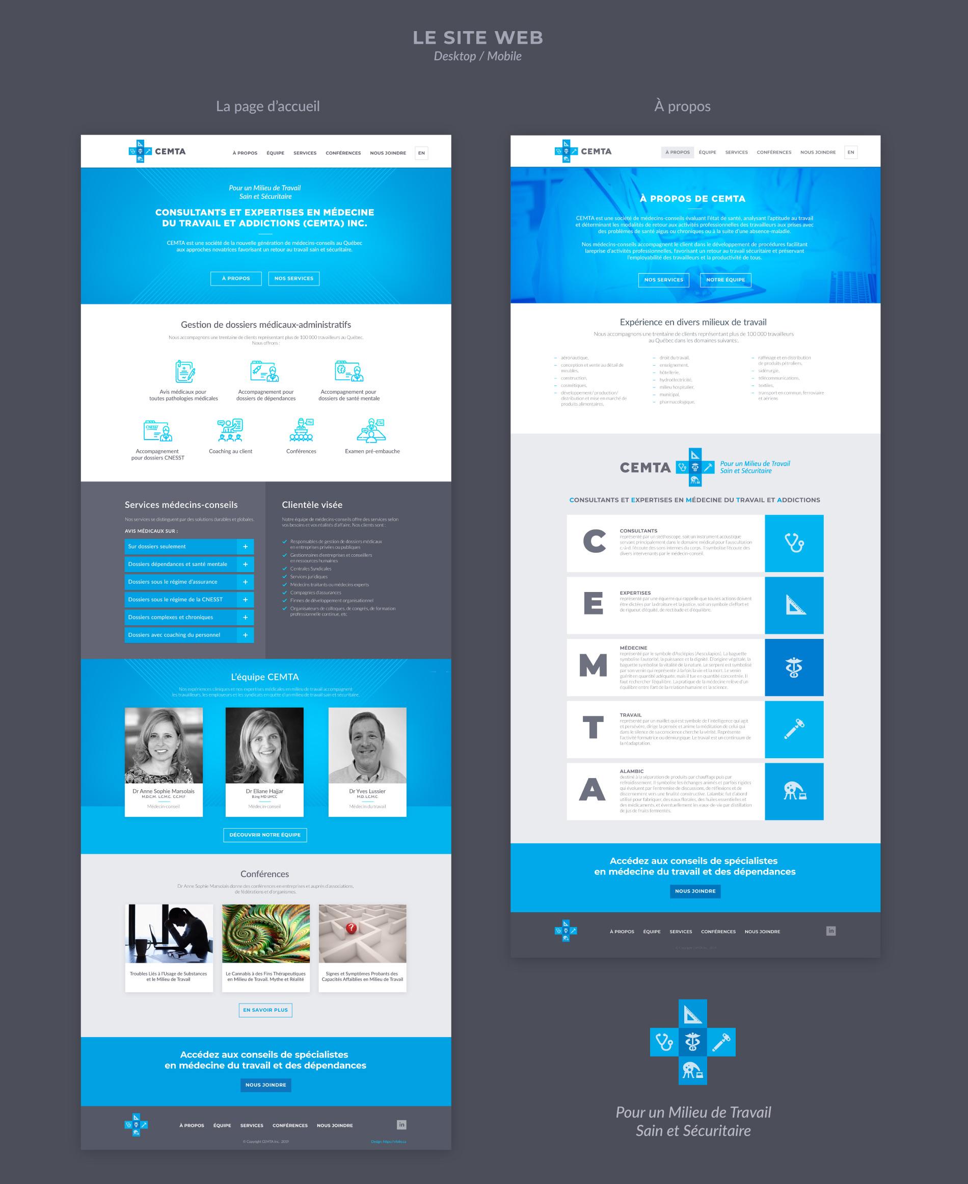 medical website design - pages desktop
