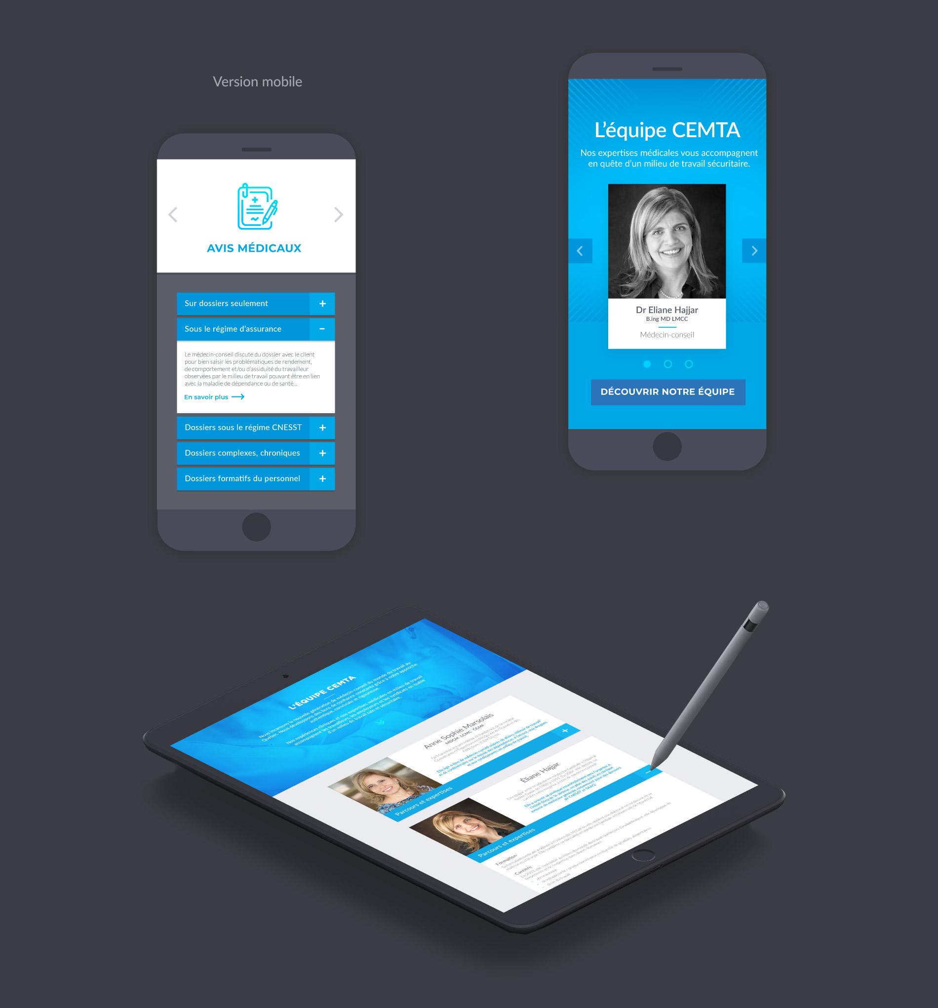 medical website design mobile version
