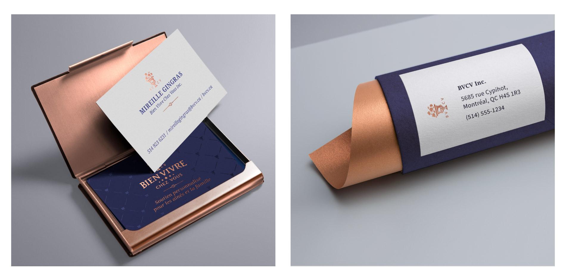Senior home care service business card design
