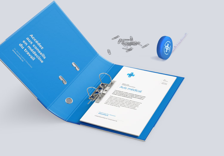 Medical consultant stationery design