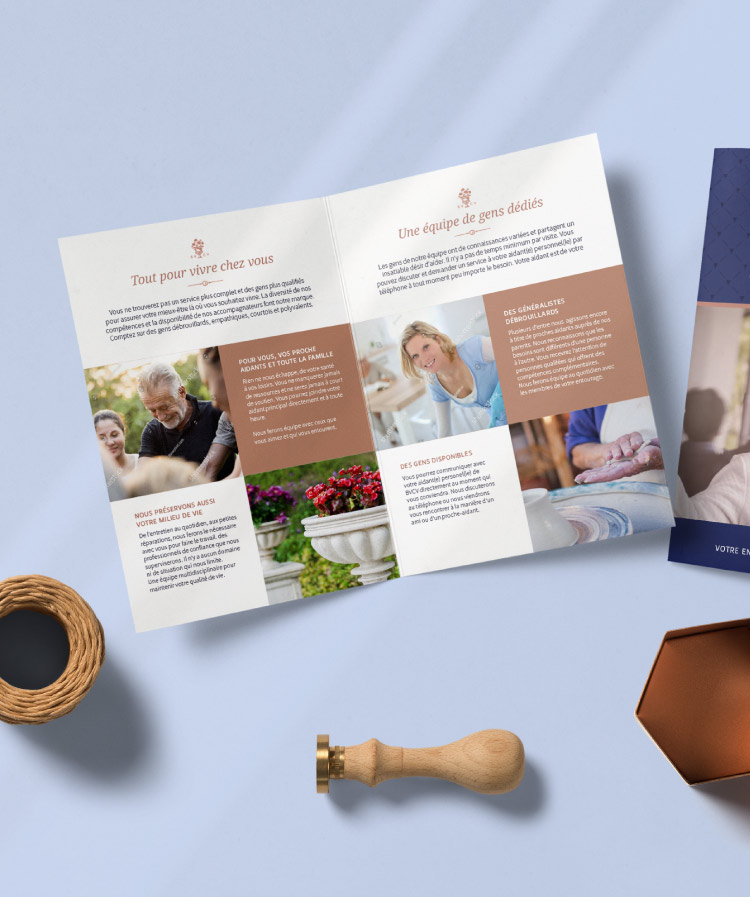 Senior home care service brochure design