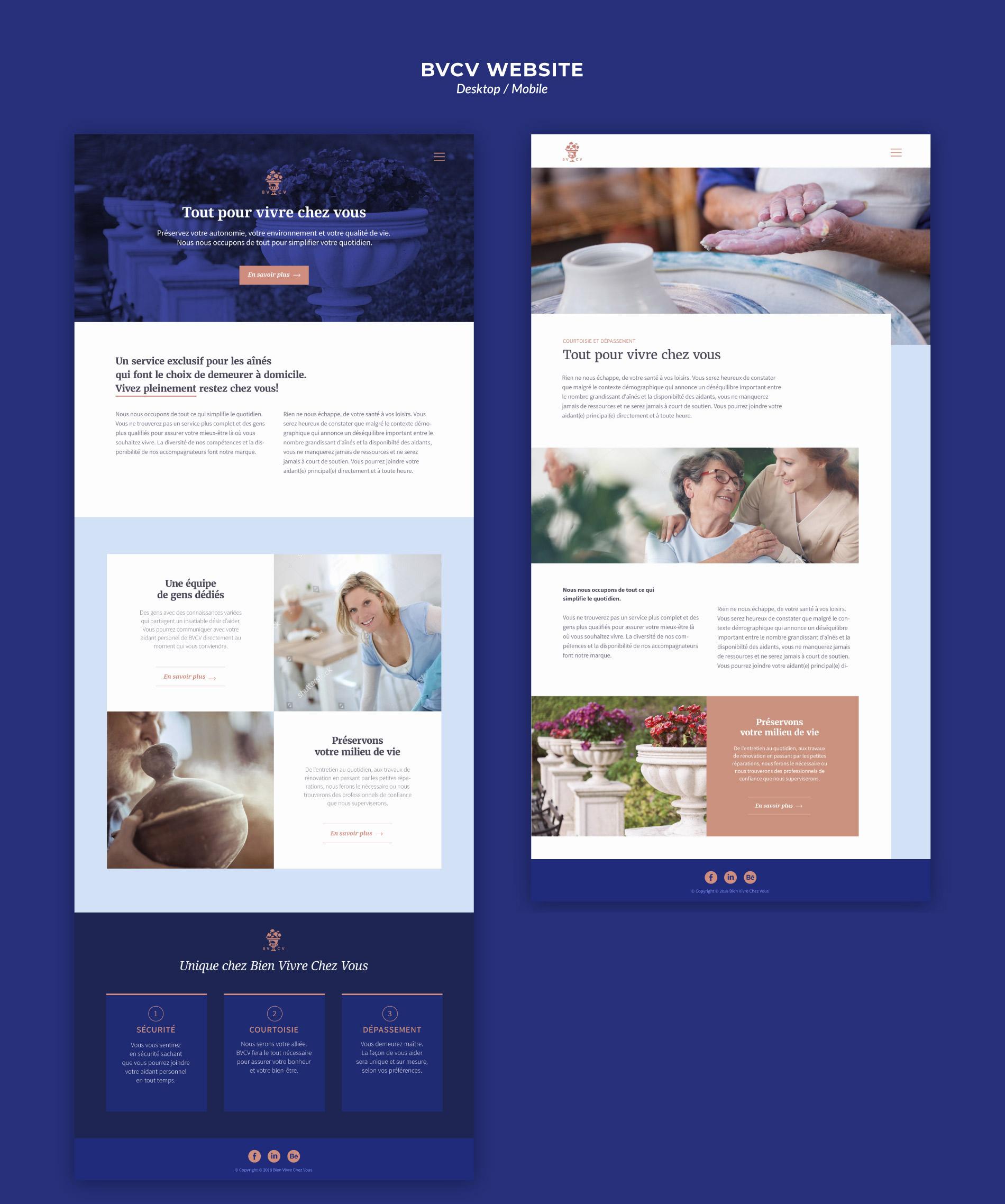 Senior home care service website design
