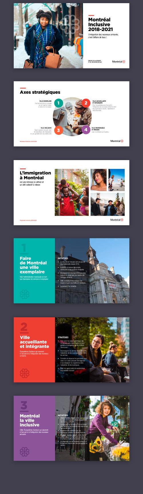 Design présentation : Montréal Inclusive