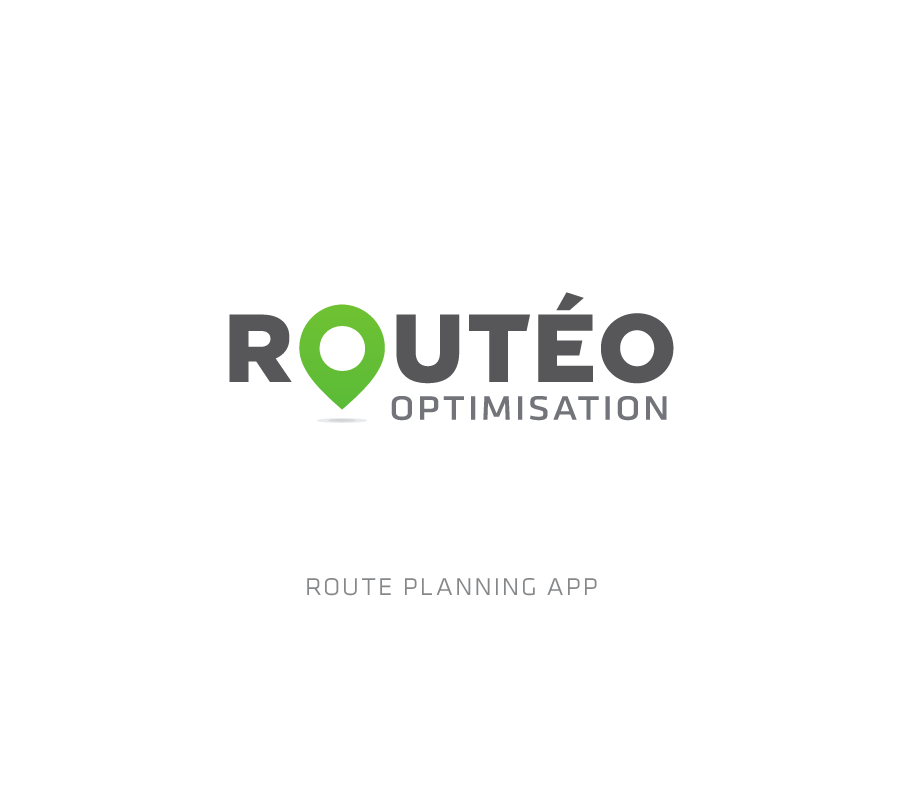 Conception logotype de l'application logistique Routéo Optimisation