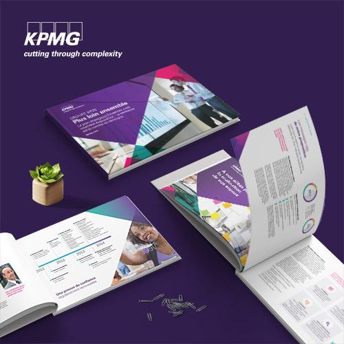 Conception et mise en page de rapports annuels et financiers. Aperçu de projet
