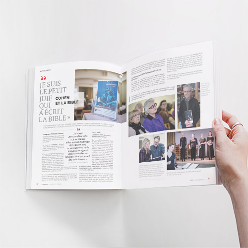 Conception et mise en page de revues / magazines. Aperçu de projet