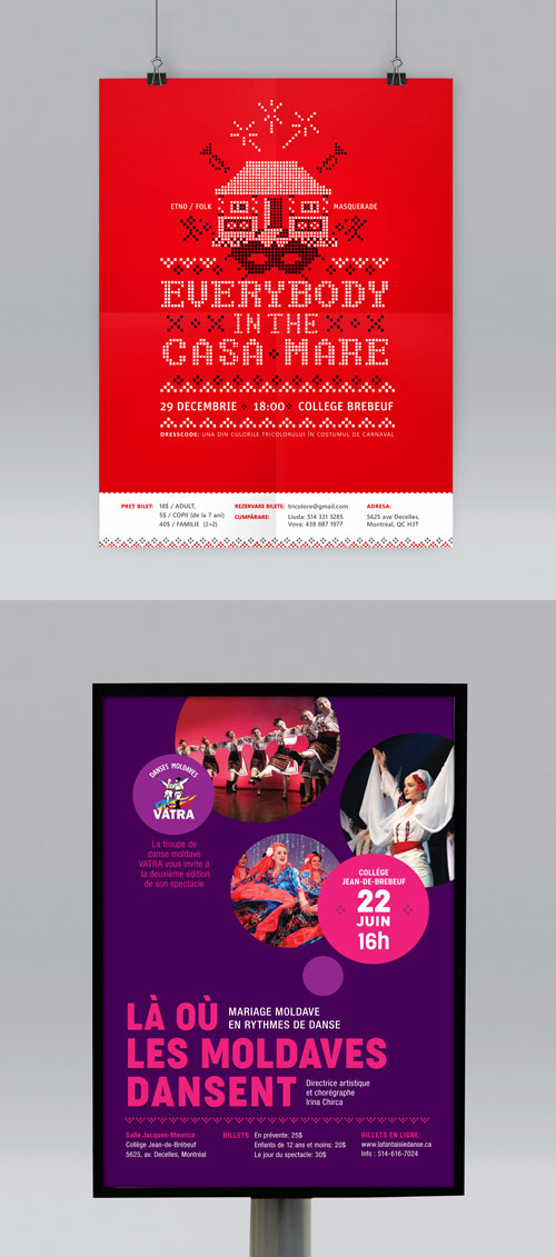 Design d'affiches folk et dances