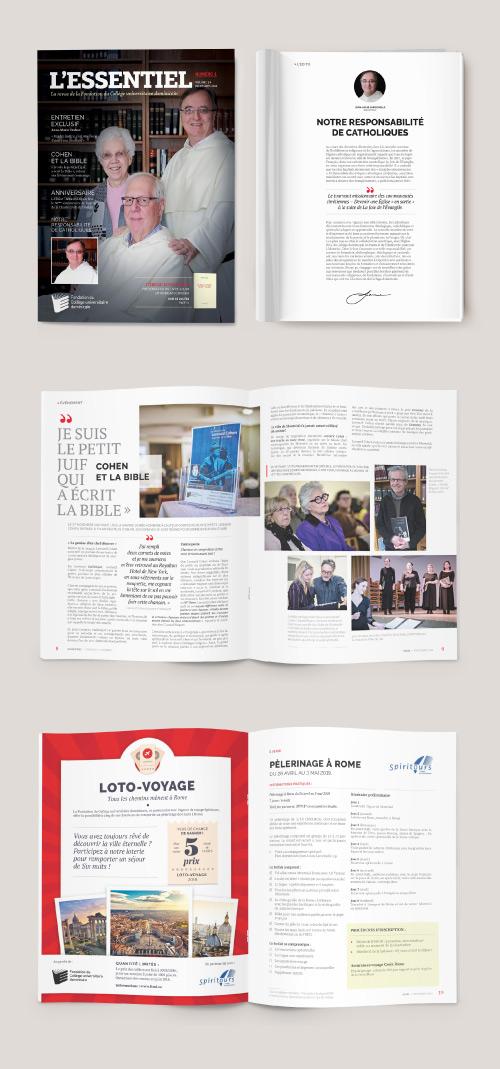 Conception et mise en page de la revue L'Essentiel du FCUD