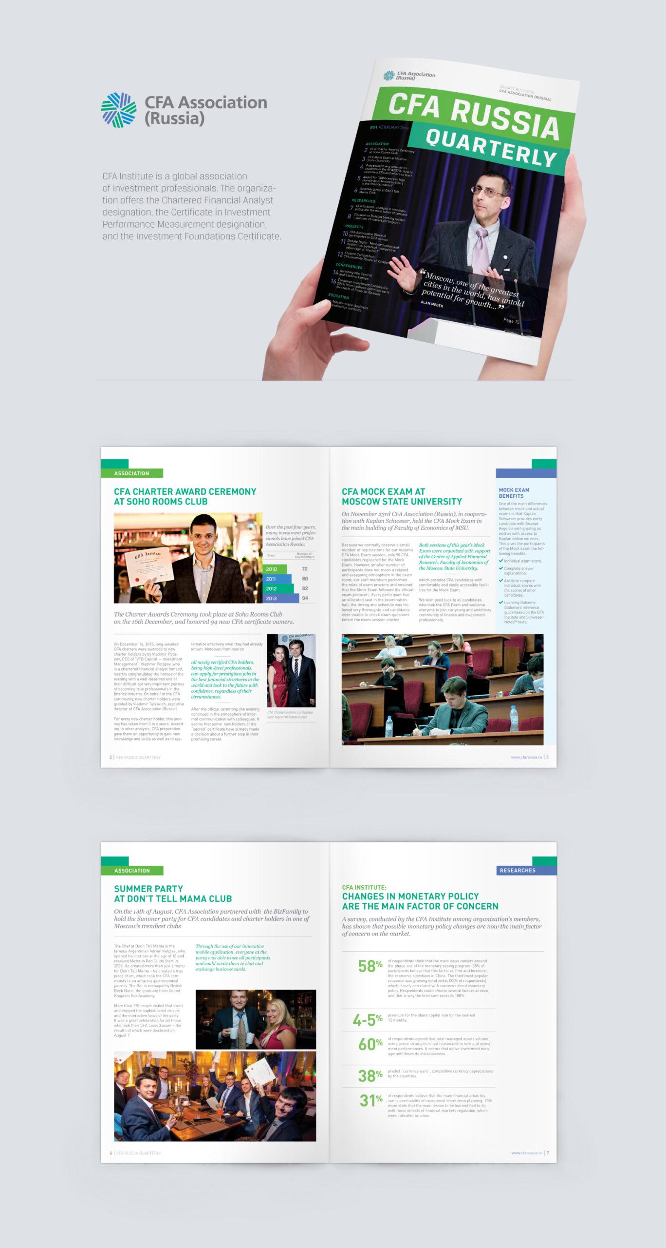 Conception et mise en page de la revue CFA : finance et investissement