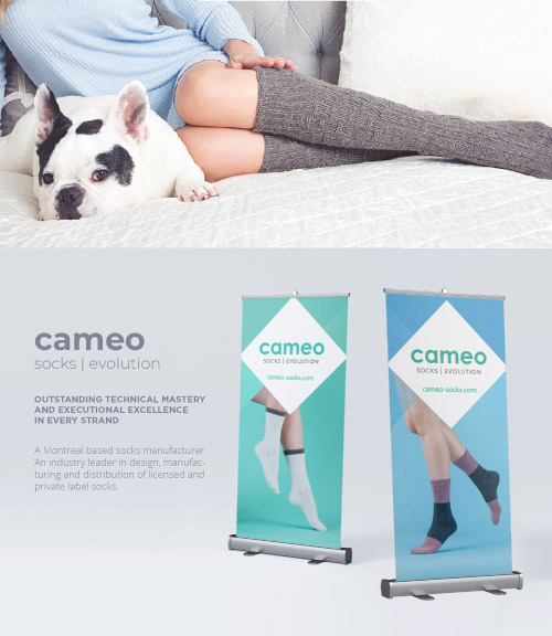 Conception de bannières Cameo Socks