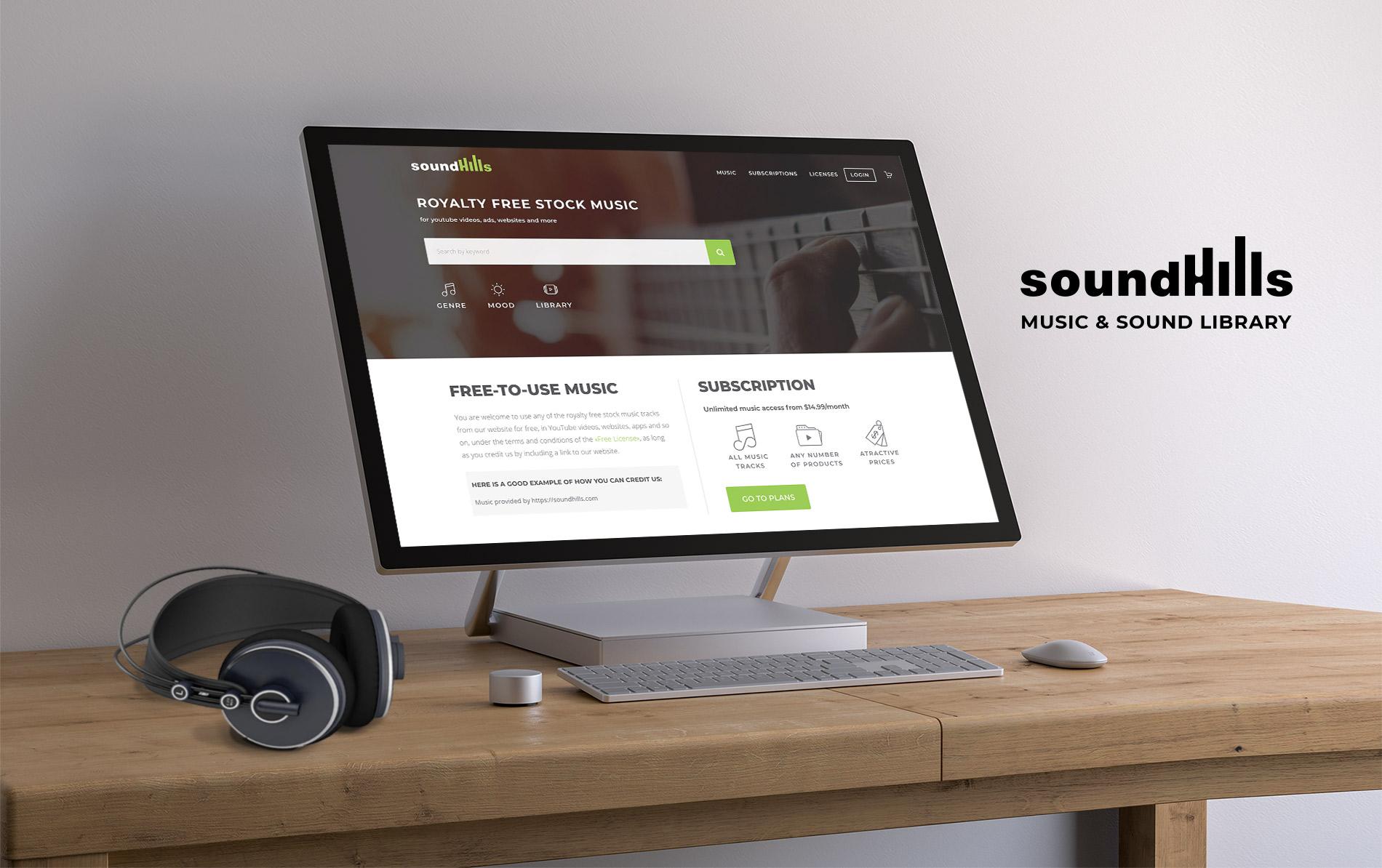 Site web SoundHills présentation générale