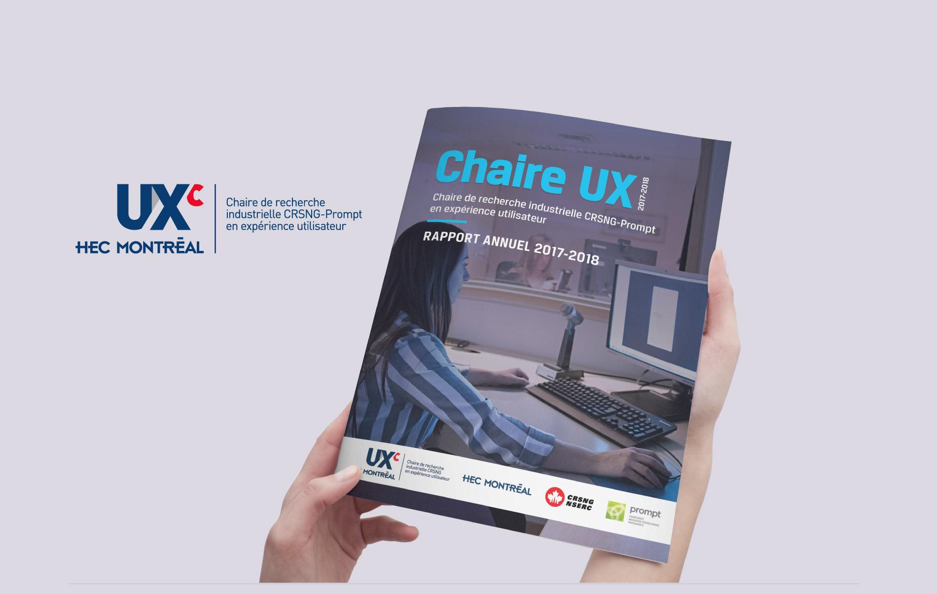Conception du rapport annuel de la Chair UX de HEC Montréal