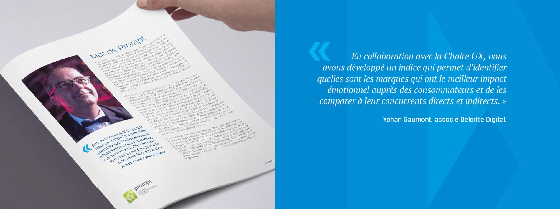 Conception du rapport annuel de la Chaire UX page 3