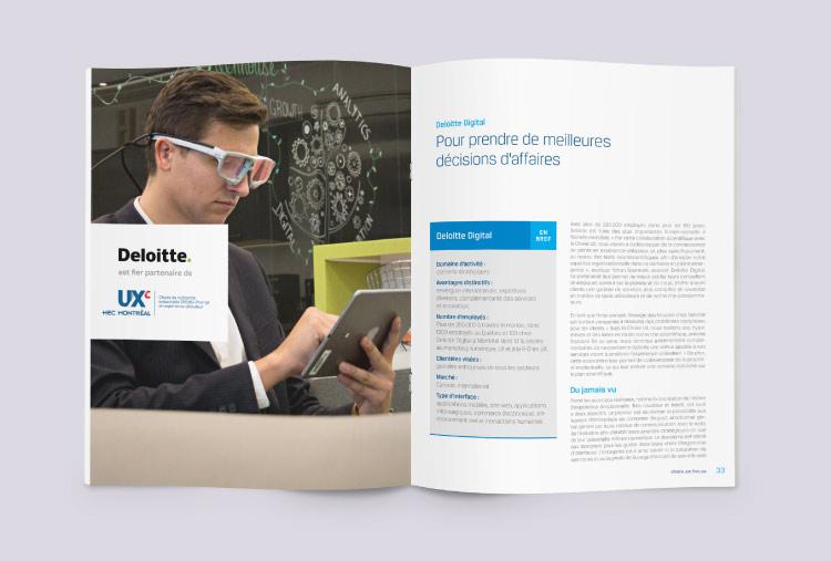 Conception du rapport annuel de la Chaire UX page 4