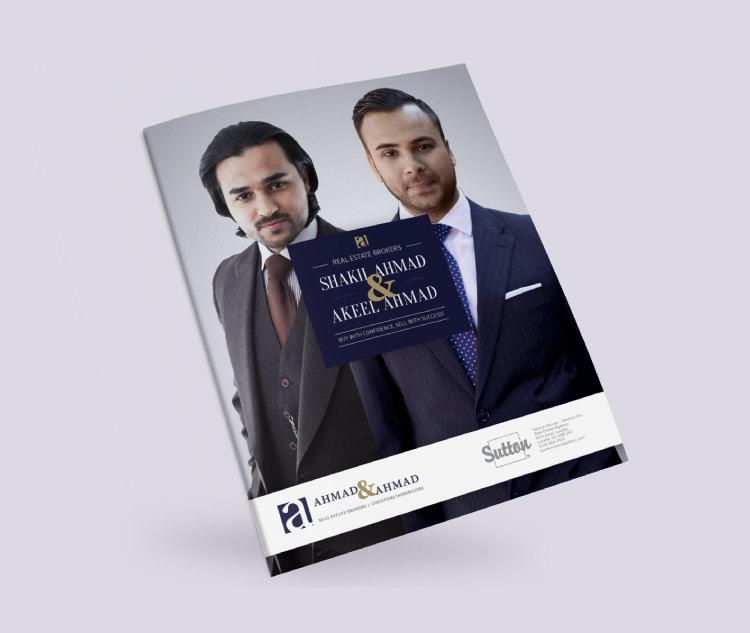Brochure pour courtier immobilier - couverture