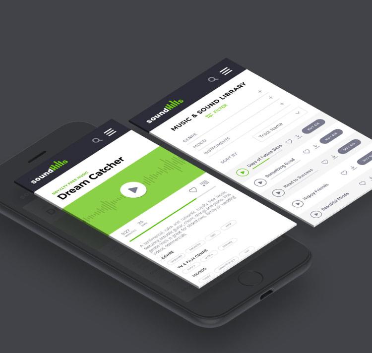 Site web SoundHills : version mobile