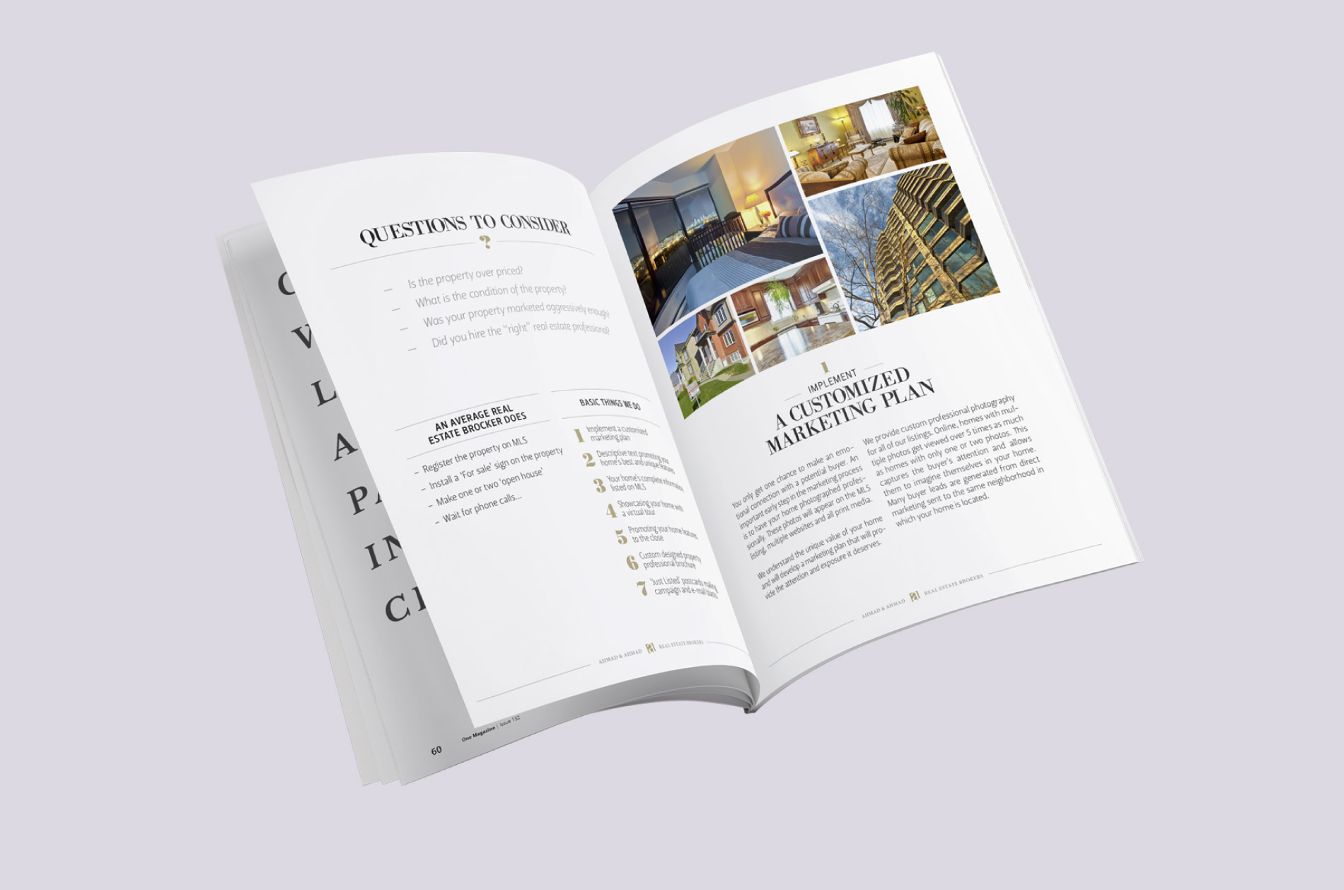 Conception brochure courtier immobilier