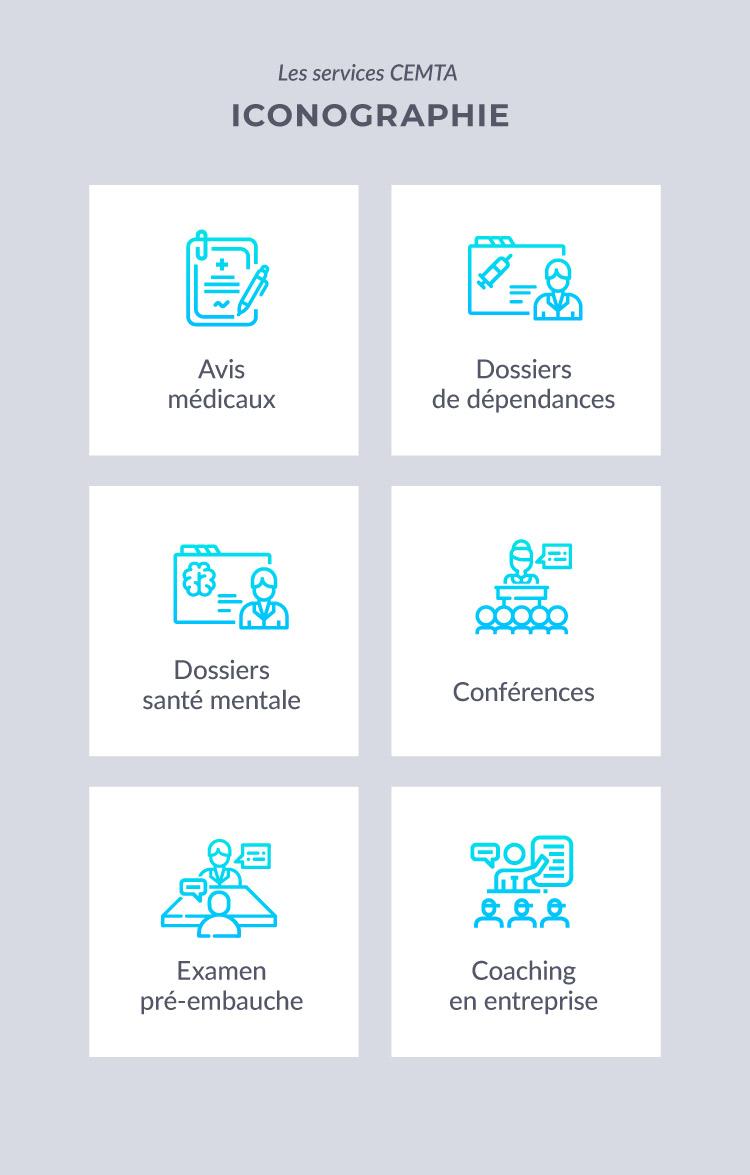 Iconographie services médicaux CEMTA : Consultants en médecine du travail