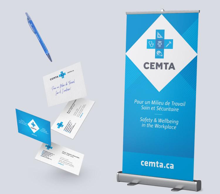 Identité visuelle CEMTA – consultants en médecine du travail