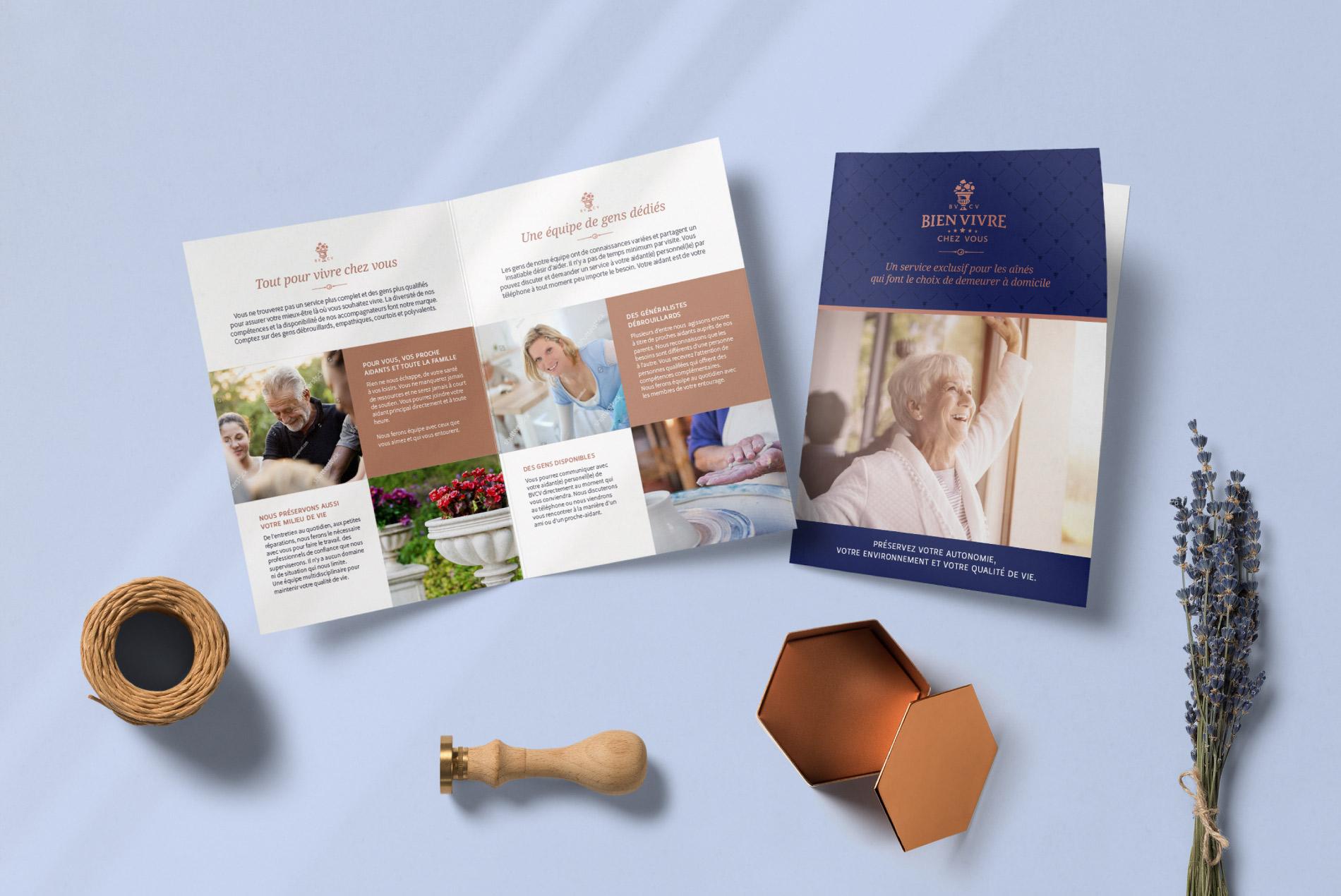 Conception de la brochure BVCV - Service de soins à domicile pour les aînés