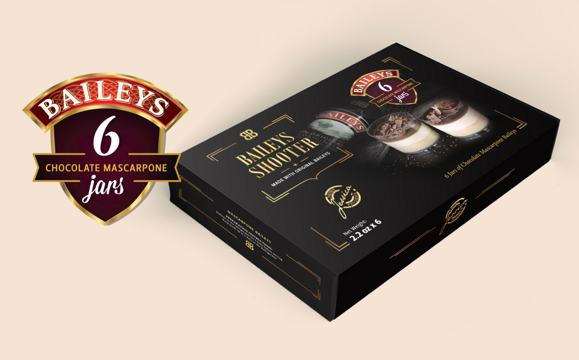 Baileys dessert packaging design