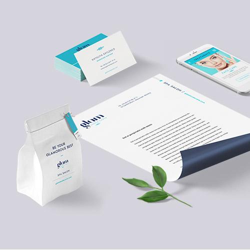 Aperçu de projet. Identité visuelle et site web de la clinique de soins médico-esthétiques Glam Monte Carlo (salon SPA)